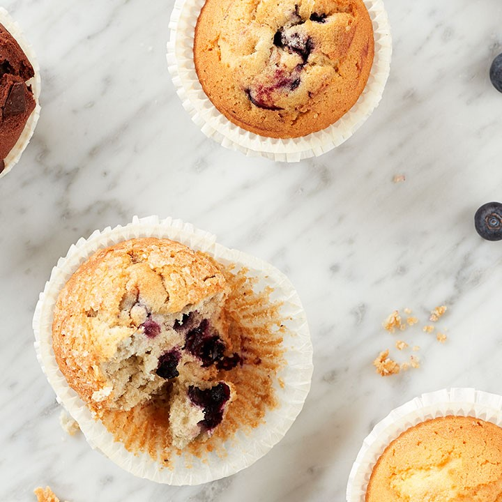 Gluten free muffin with blueberry